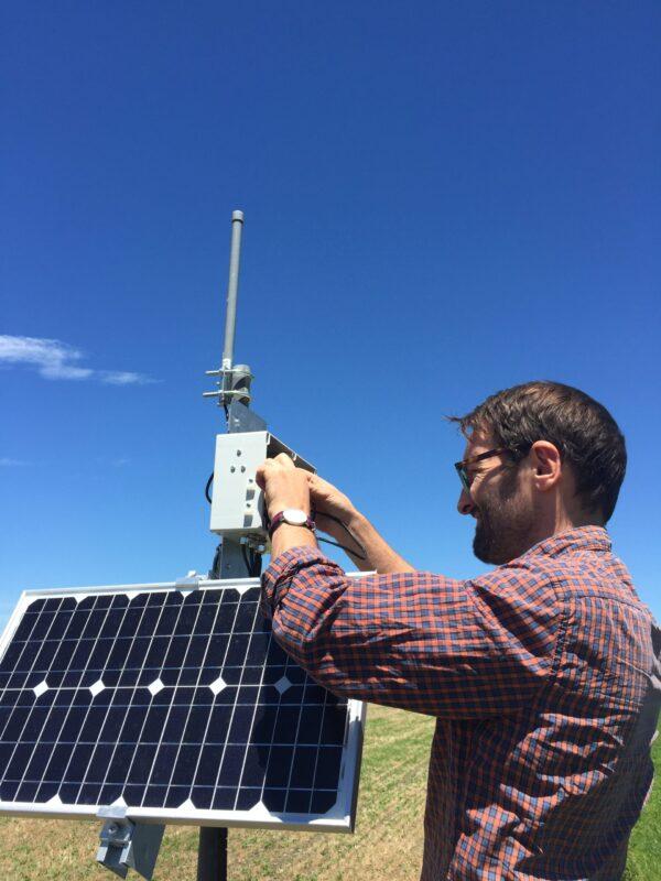 Remote solar station installation