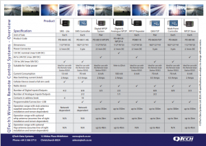 QTech Wireless products overview and comparison sheet